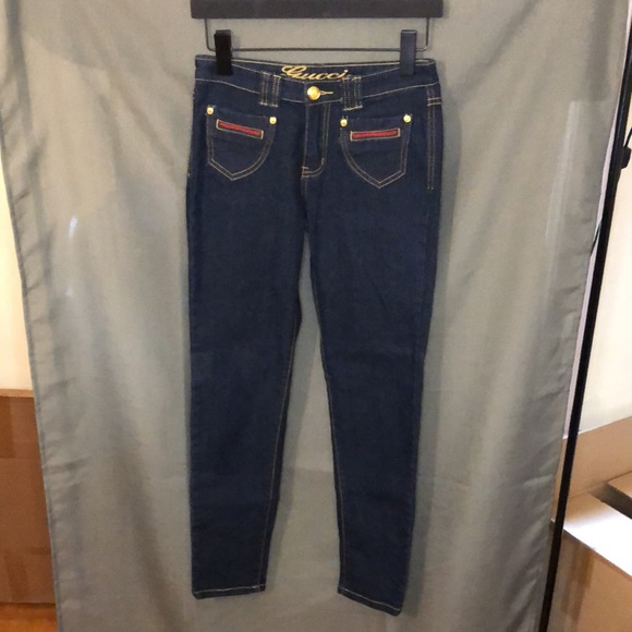Gucci Arkansas Skinny to Straight Jeans, size 28